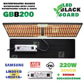 GBB Black Board 220w lm301b IP65 waterproofed